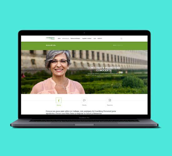 Diseño de Identidad Corporativa, Desarrollo Web y Comunicación Online para Lola Noguera - Naturalmente Coaching