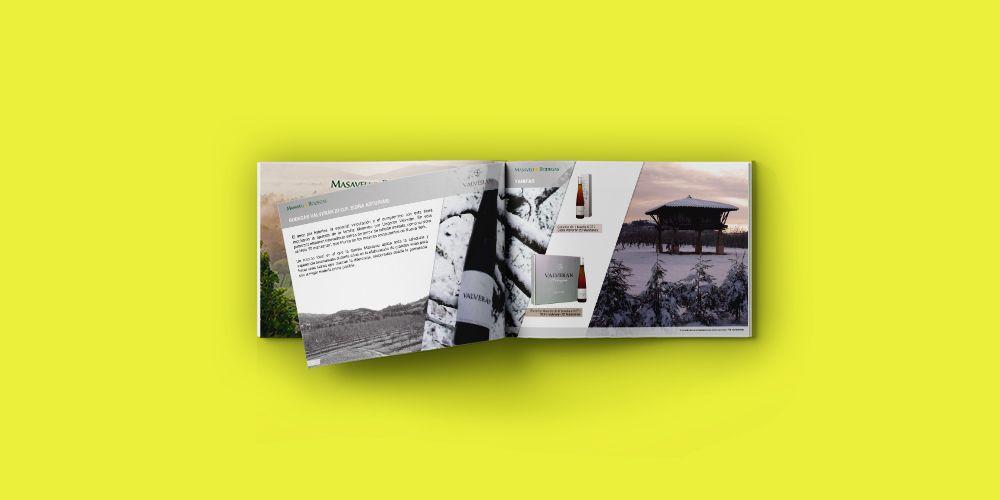 Diseño Editorial de Catálogo HORECA de vinos para Bodegas Masaveu