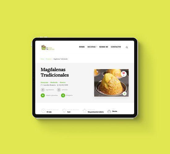 Diseño de Identidad Corporativa, Desarrollo Web y Comunicación Online para el Blog de Recetas El Rincón de Dulcinea