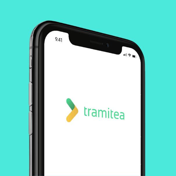Logotipo para Tramitea, app para realizar trámites y gestiones municipales online