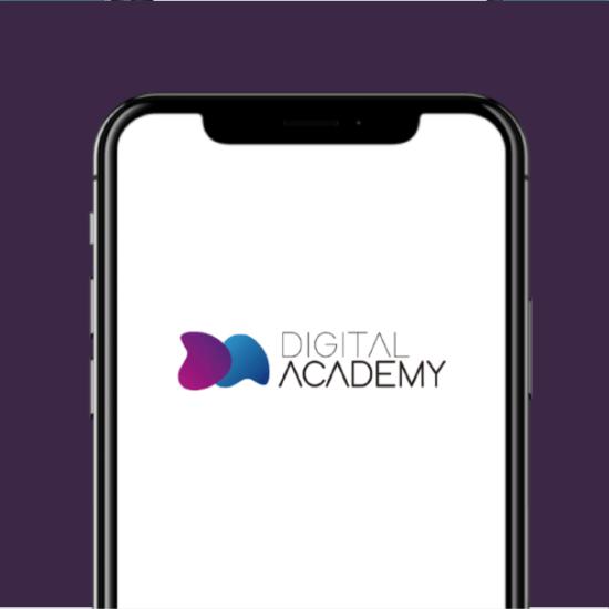 Logotipo para Digital Academy, academia online de formación en nuevas tecnologías