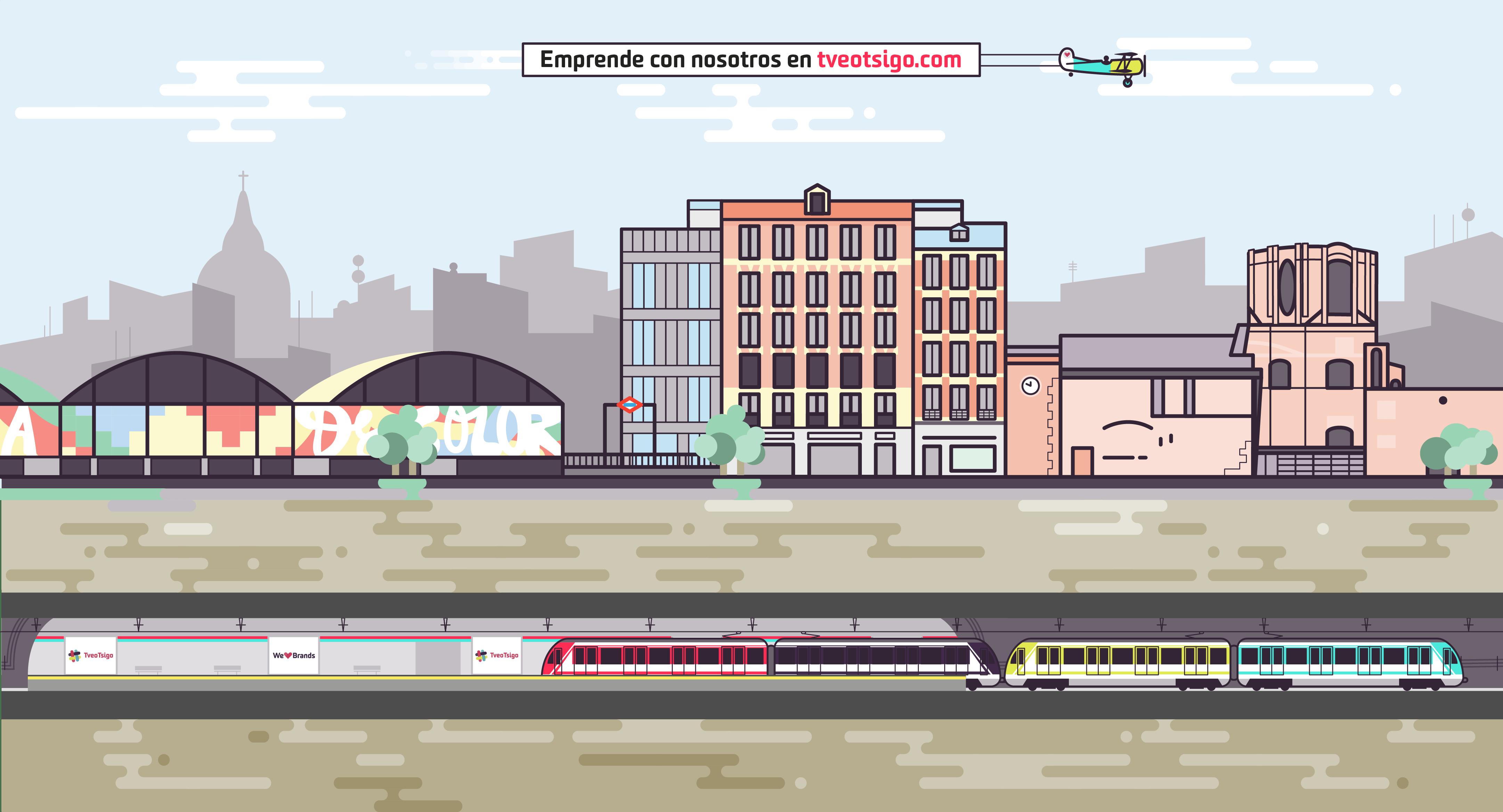 Lavapiés y La Latina en Madrid, ubicación de TveoTsigo, agencia de diseño y comunicación online