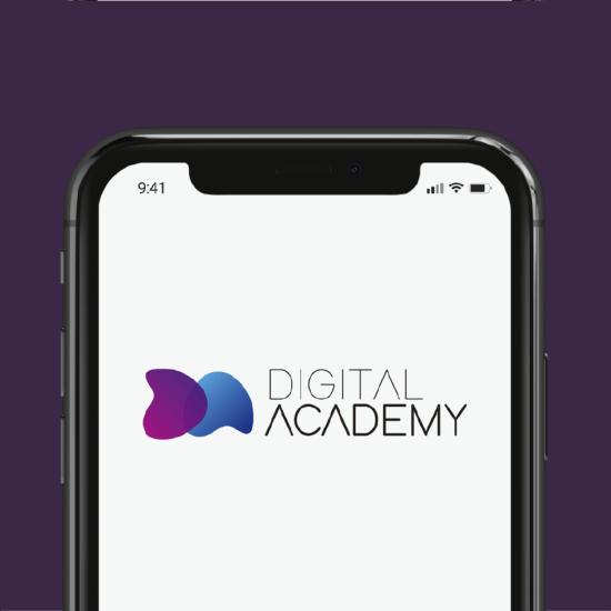 Diseño de imagotipo para Digital Academy, academia online de formación en nuevas tecnologías