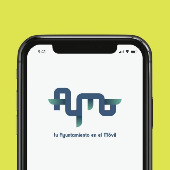 Diseño de logotipo para Aymo, app de noticias y gestión de tu ayuntamiento